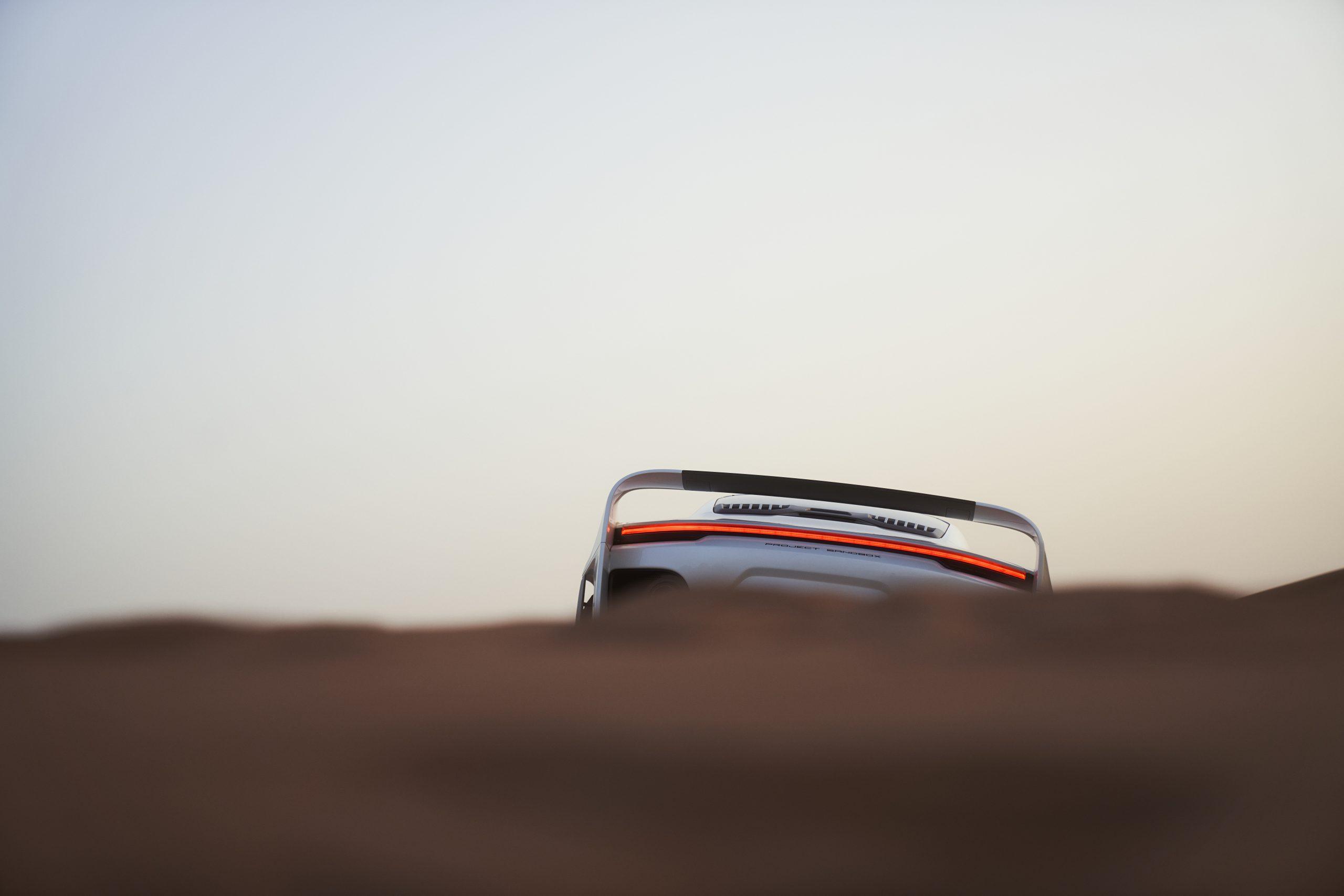 Gemballa Marsien rear wing over dune