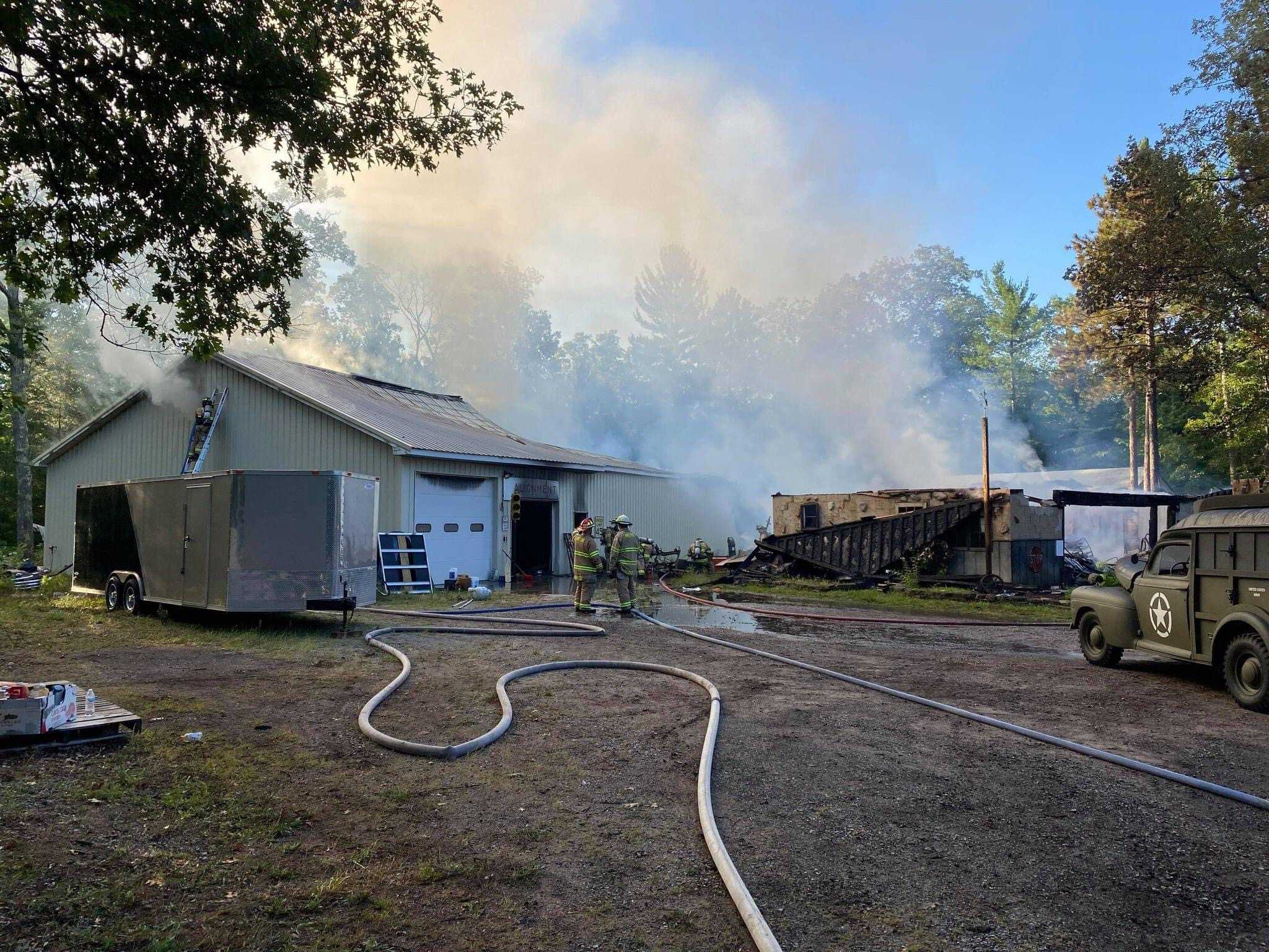 Woodie Wagon Shop Fire out