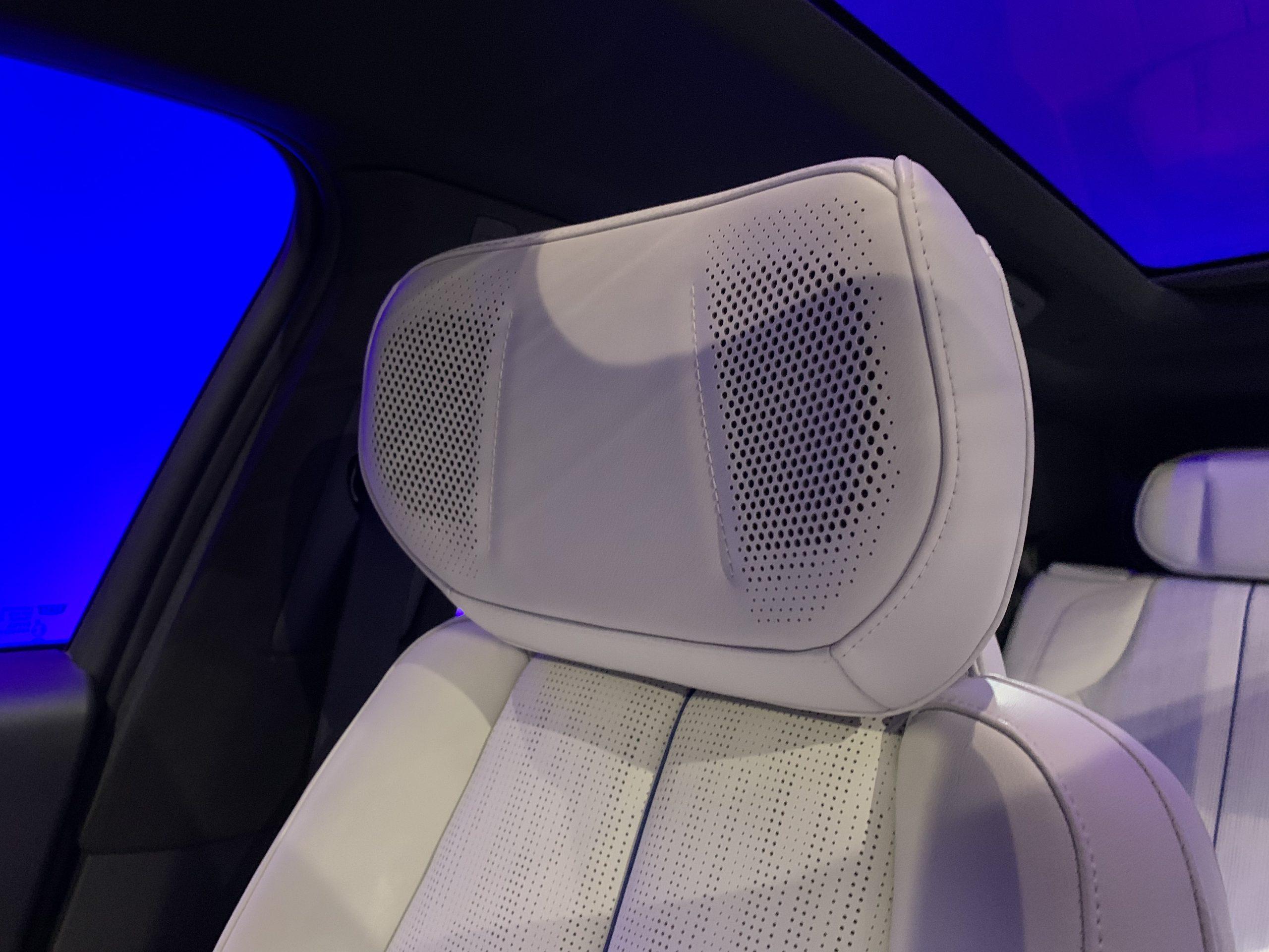 2023 Cadillac Lyriq interior headrest speakers