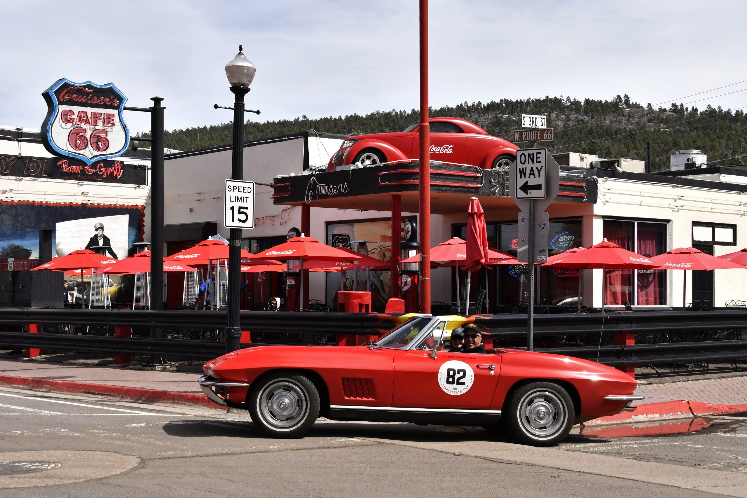 Route 66 Reunion corvette cafe 66