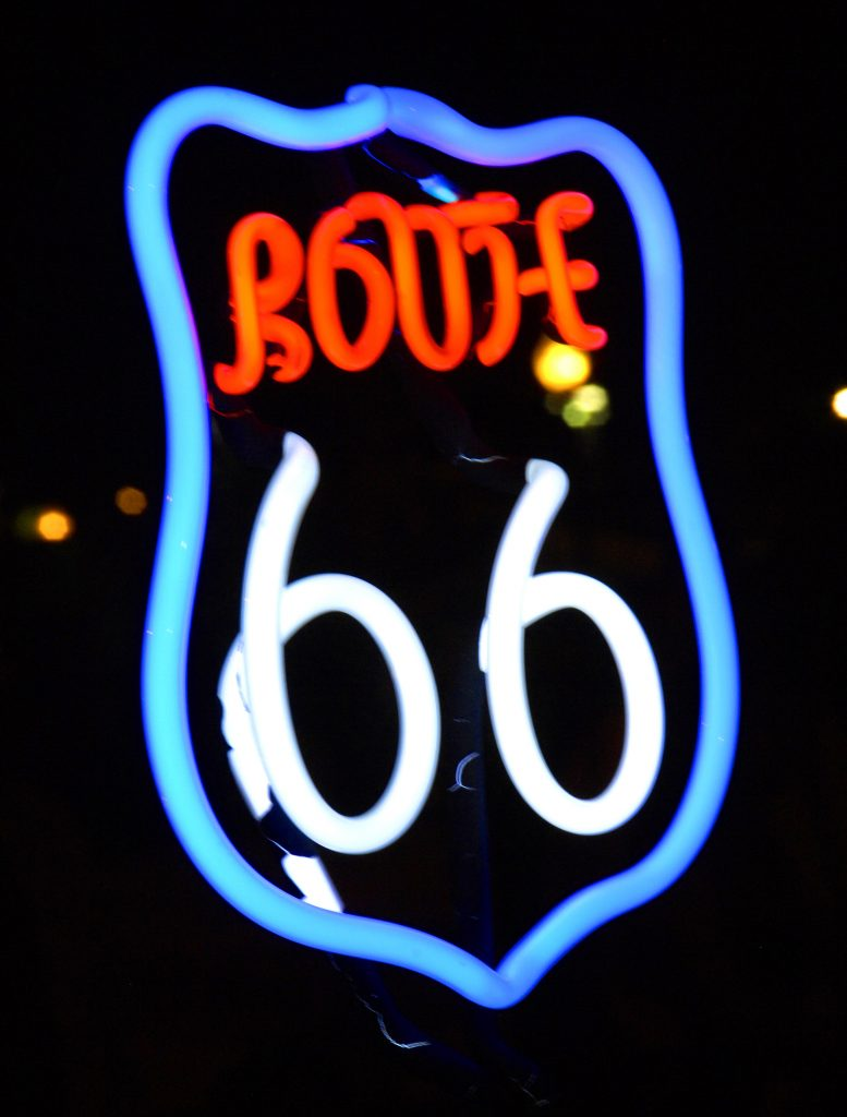 Route 66 Reunion neon sign