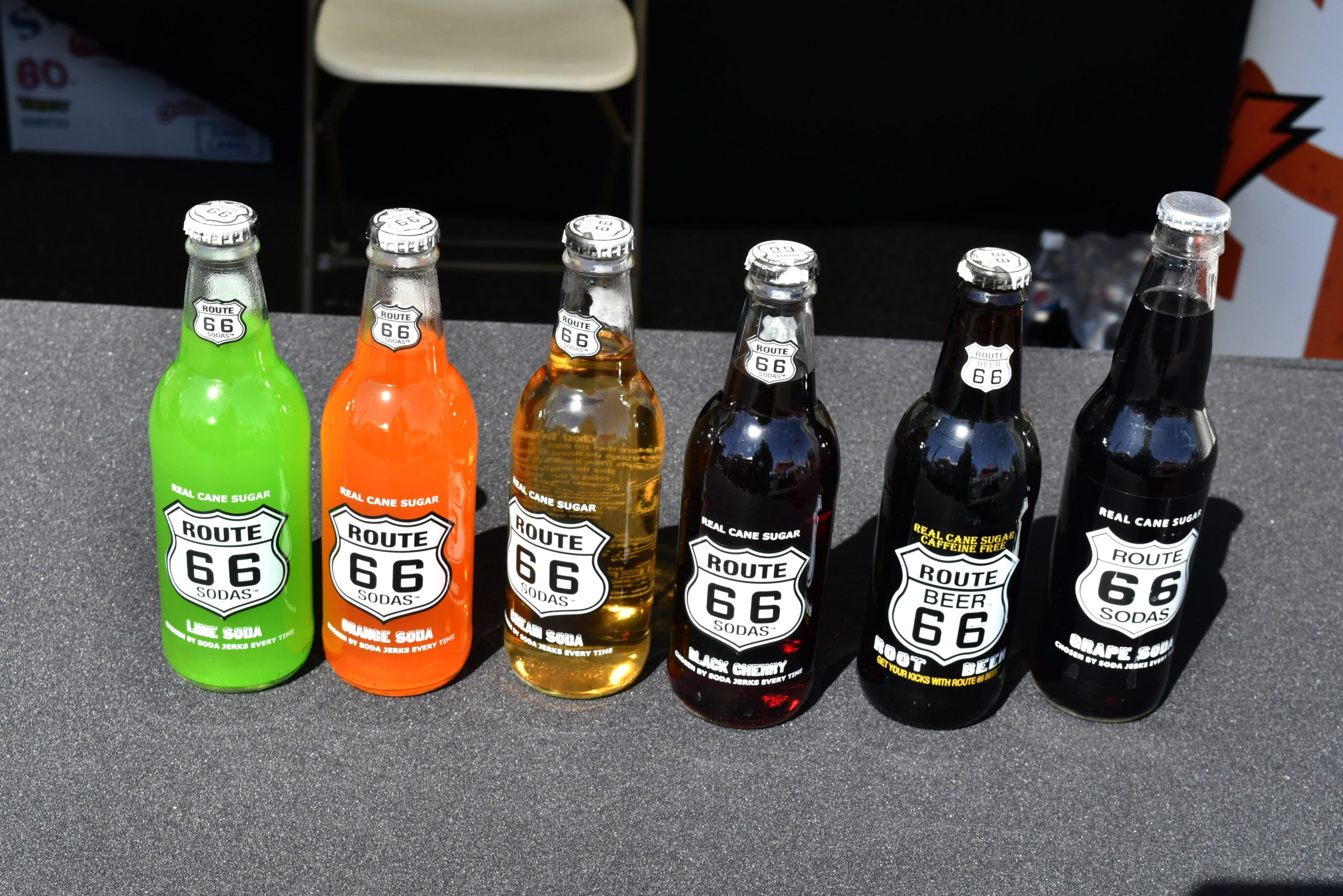 Route 66 Reunion pop soda bottles