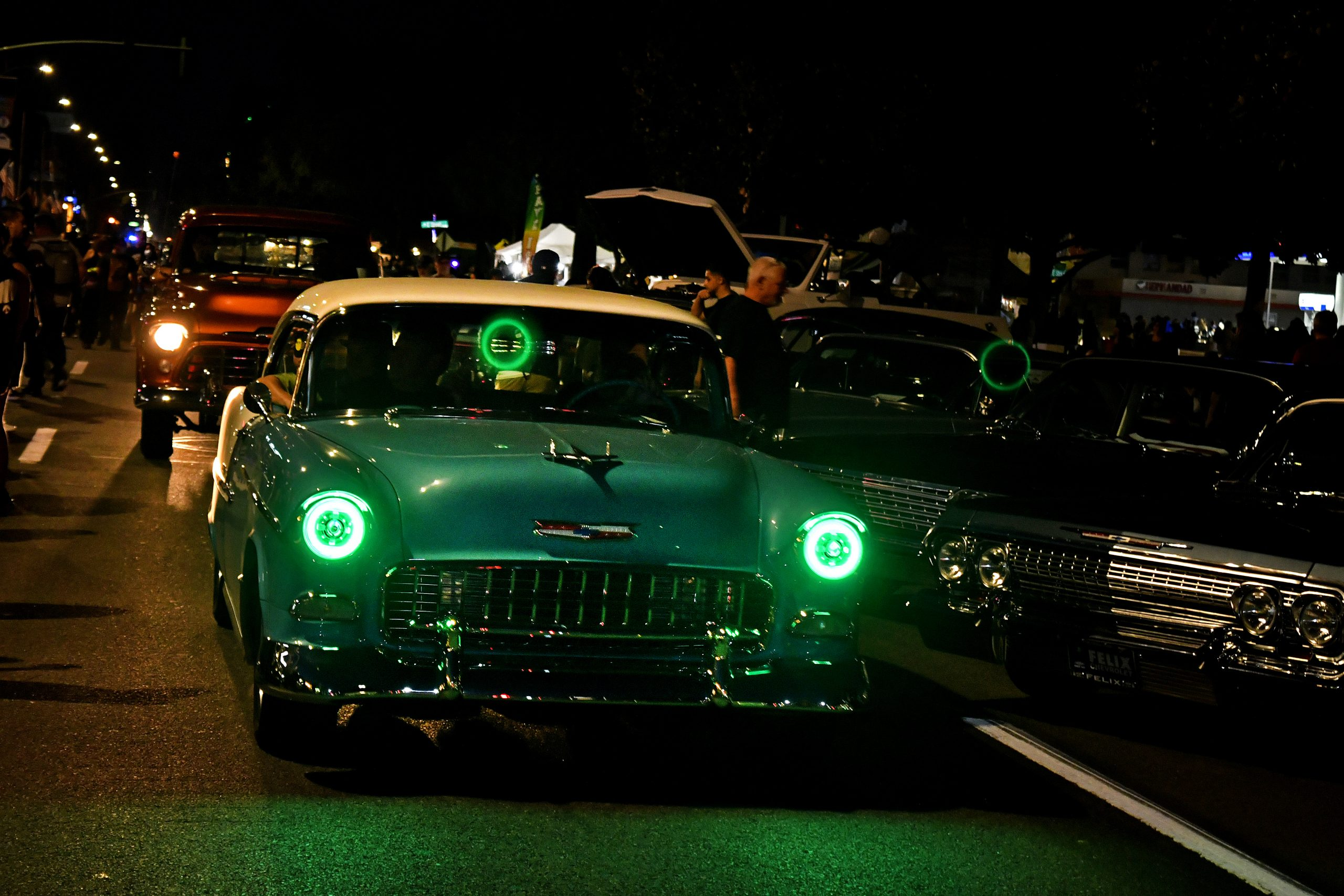 Route 66 Reunion chevrolet night drive