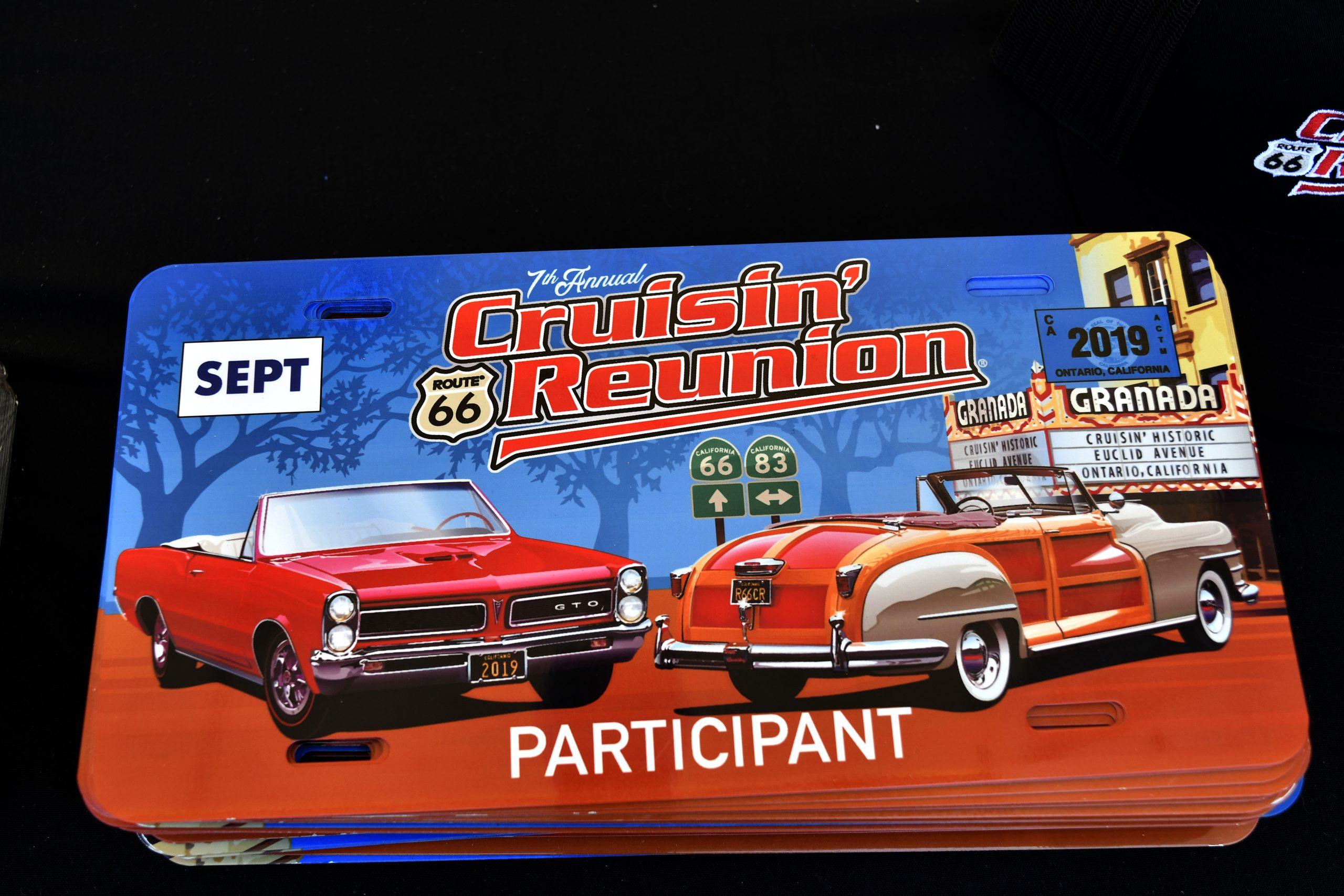 Route 66 Reunion plate memorabilia