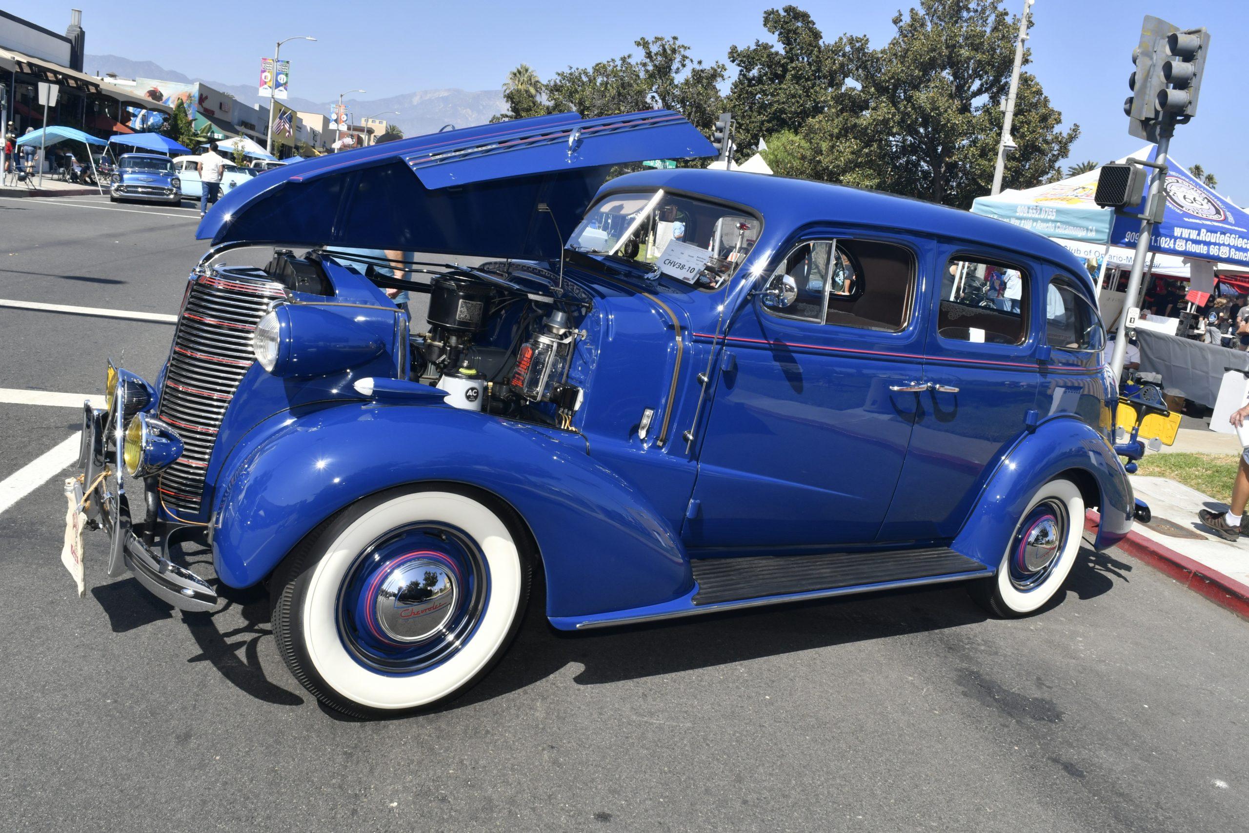 Route 66 Reunion blue chevrolet custom