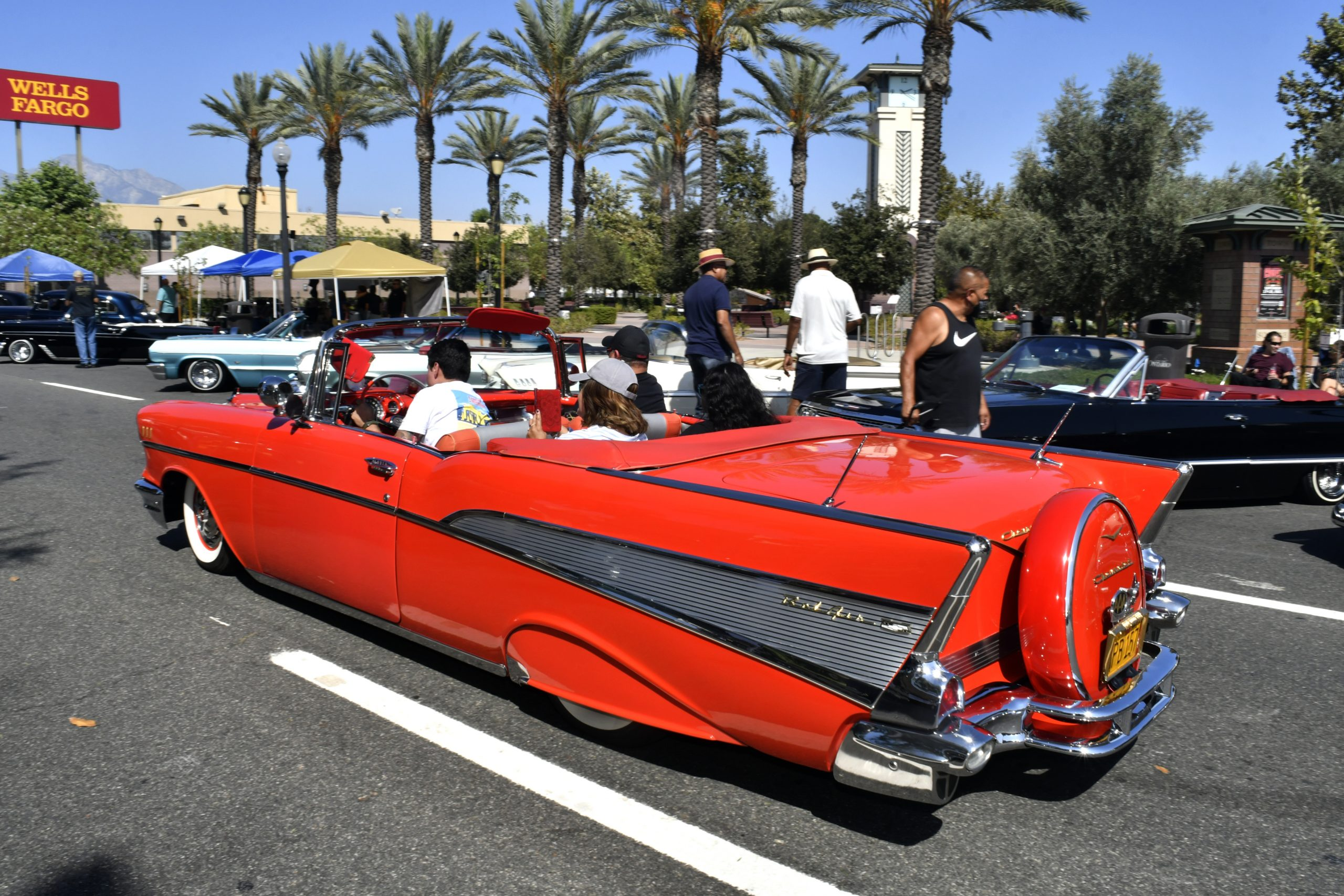 Route 66 Reunion red chevy custom convertible