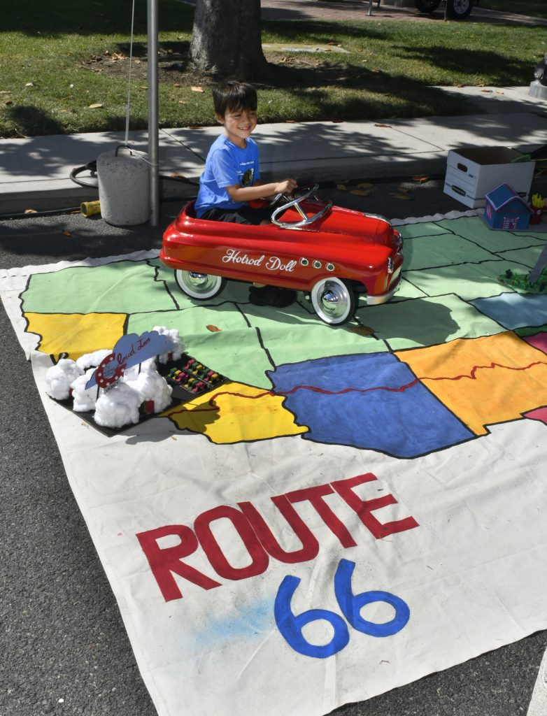 Route 66 Reunion kids route map
