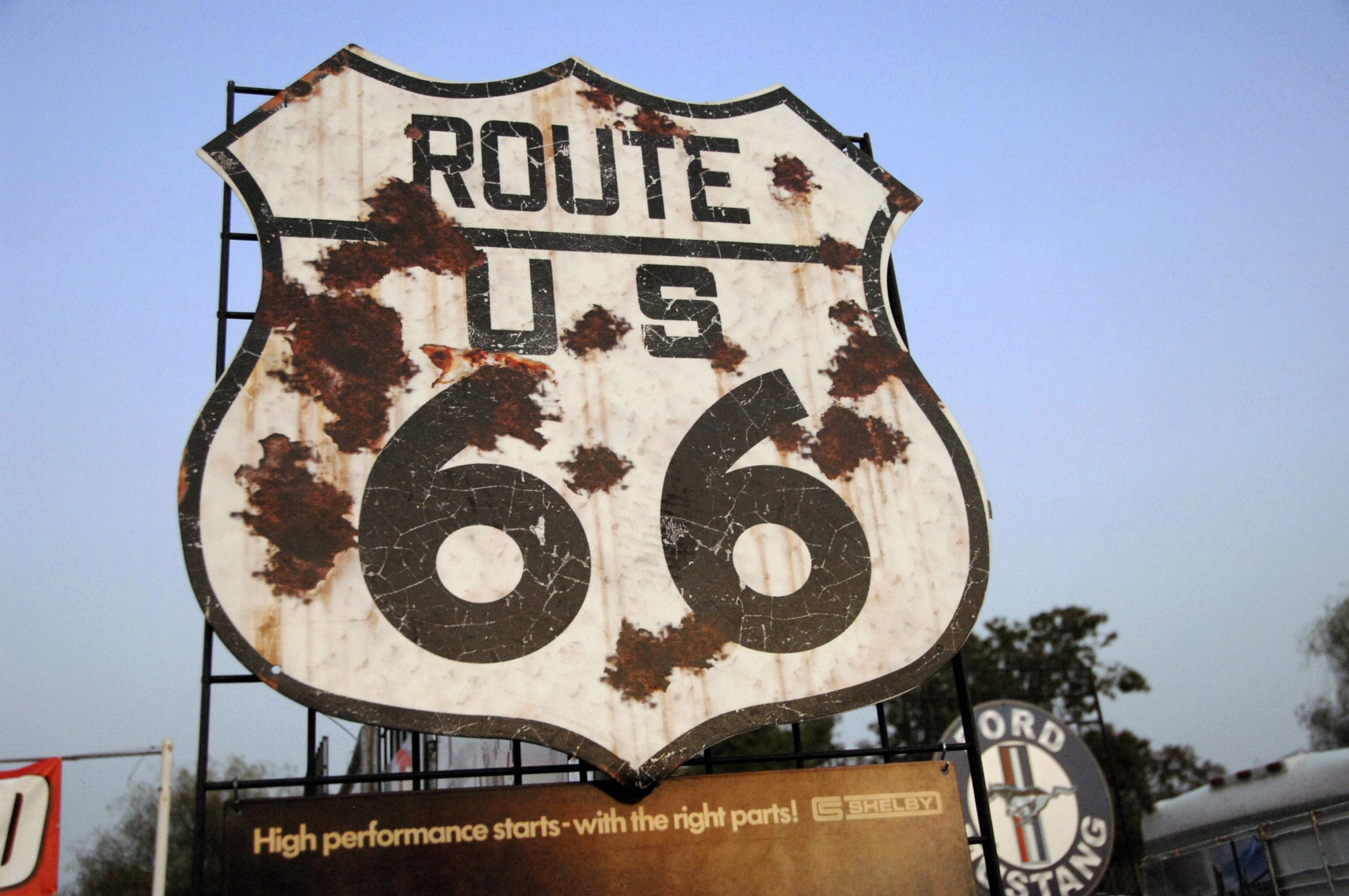 Route 66 Reunion sign