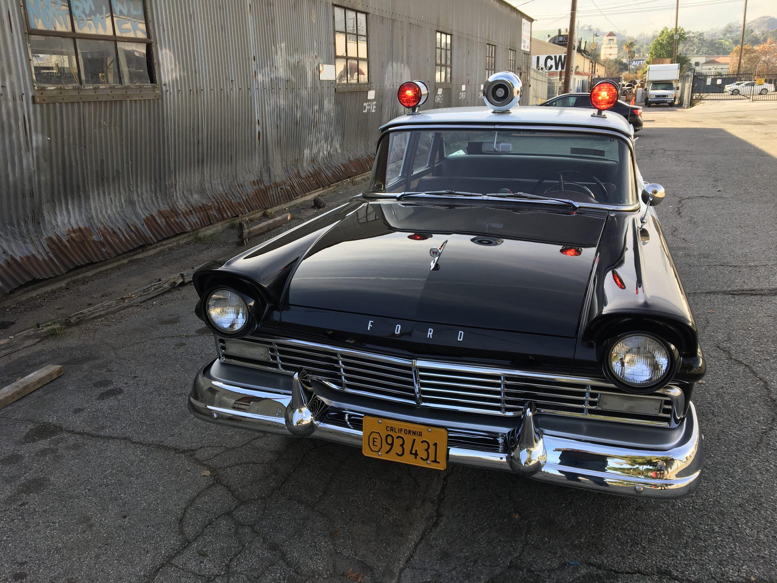 vintage ford cop car front