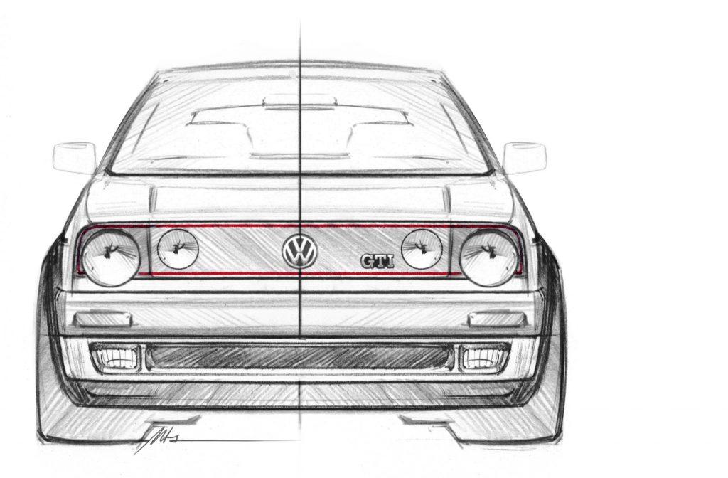 Golf GTI Mk2 design sketch