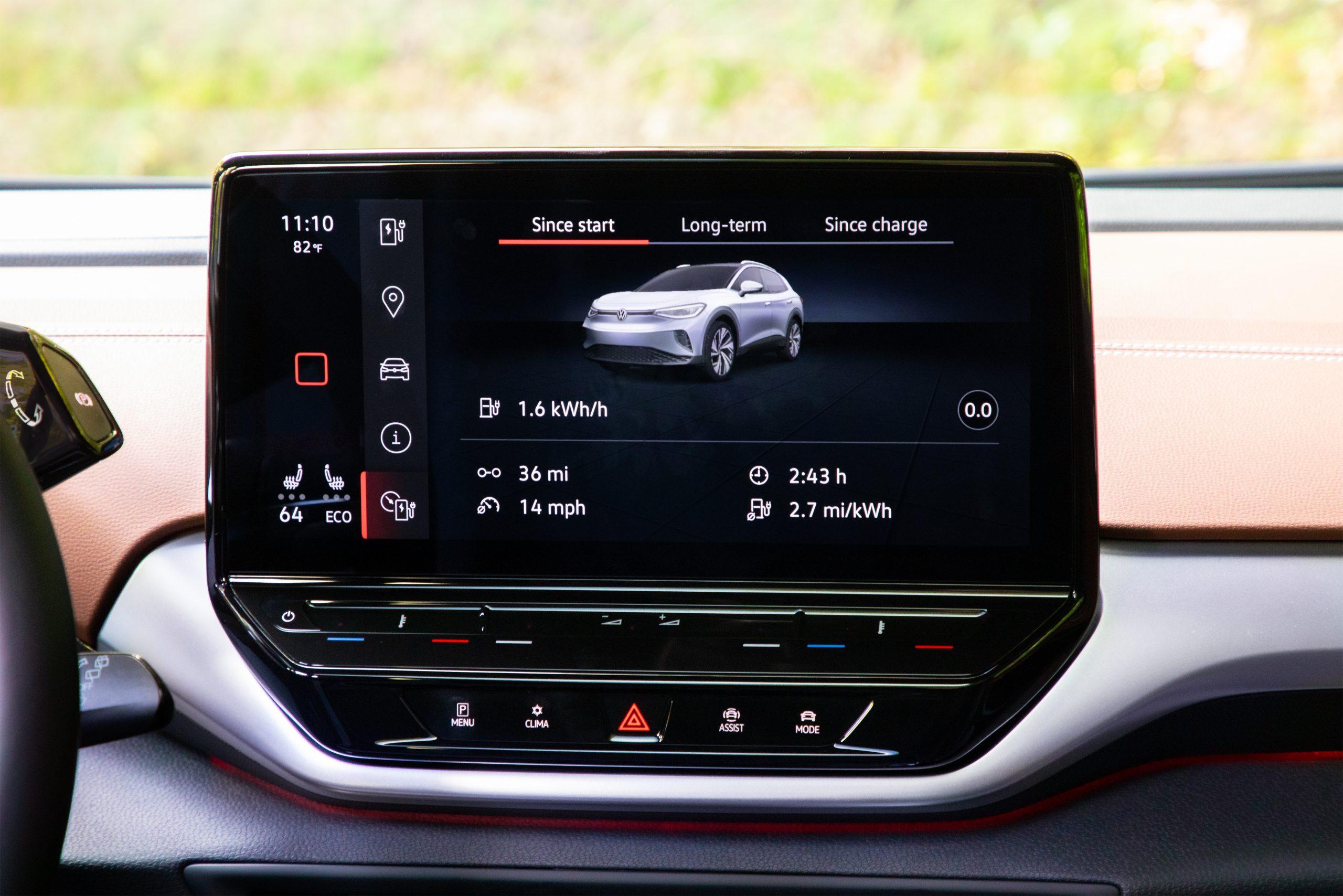 VW ID.4 AWD Pro S interior infotainment