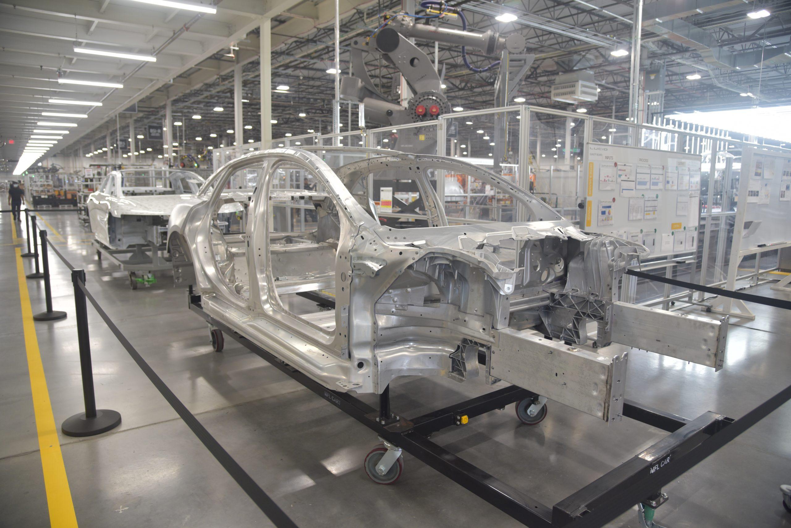 Lucid Air production line
