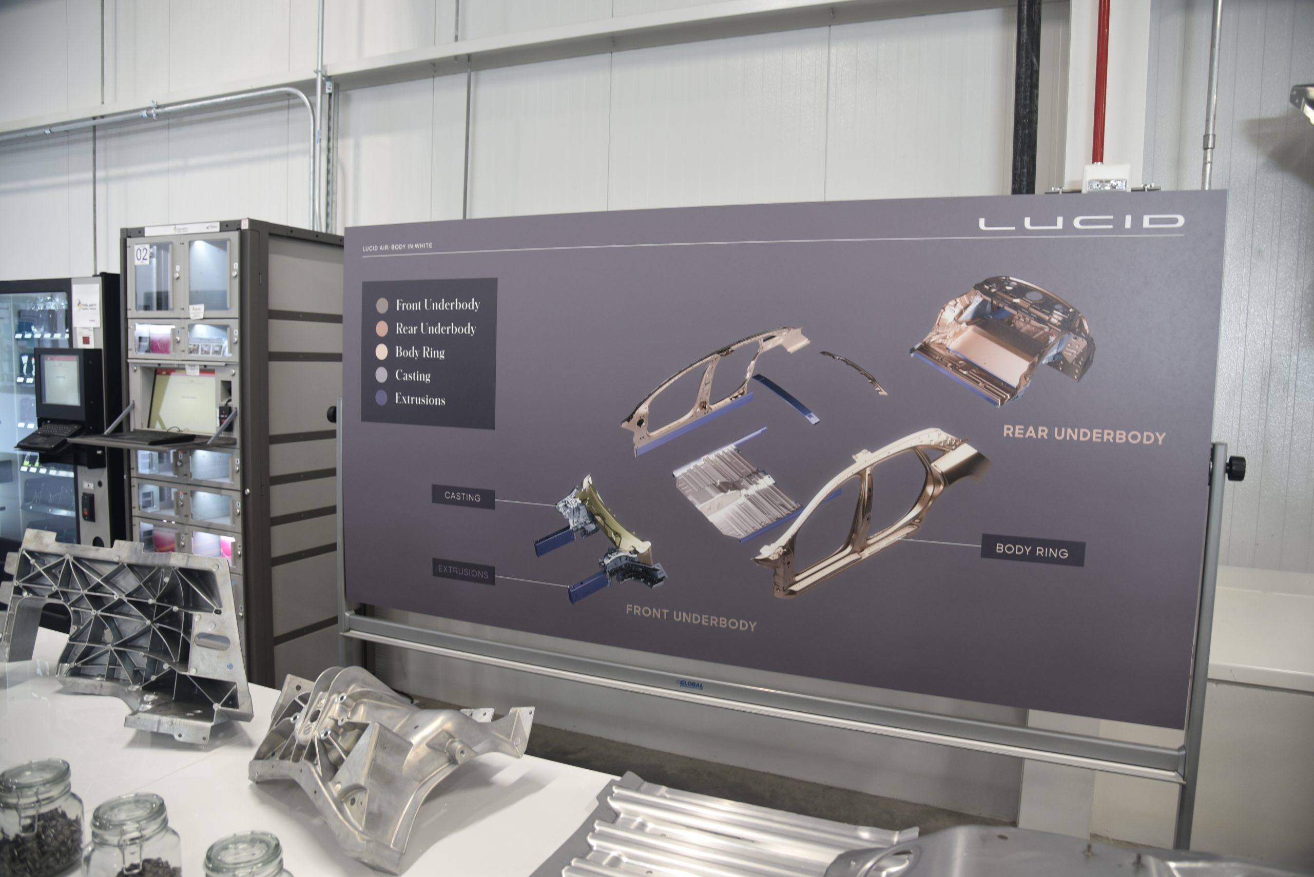 Lucid Air production line assembly diagram