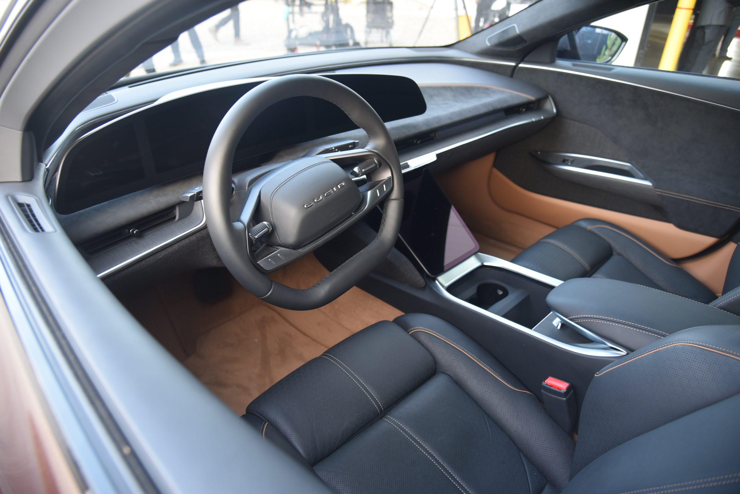 Lucid Air interior cockpit