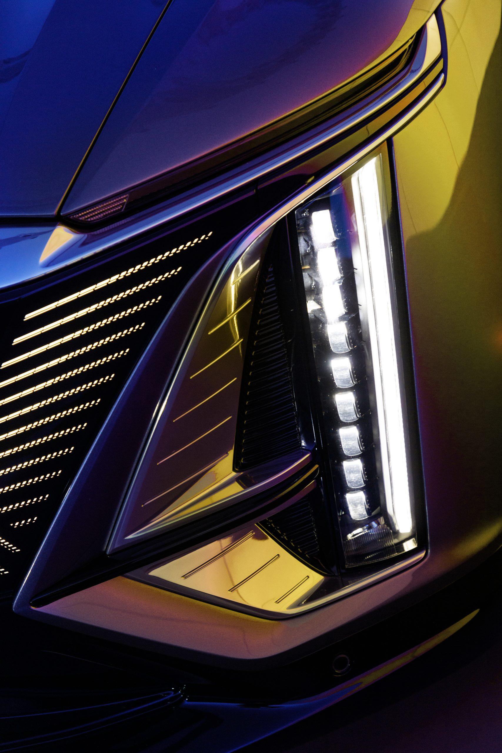 2023 Cadillac Lyriq exterior front slimeline LED headlight