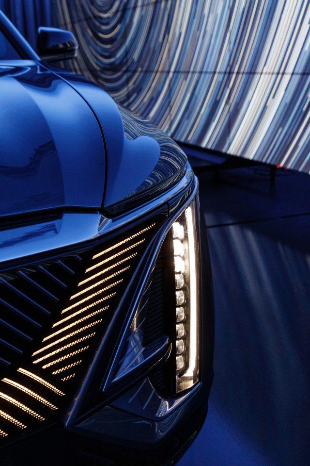 2023 Cadillac Lyriq front headlight detail