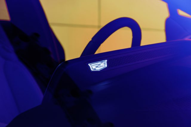 2023 Cadillac Lyriq interior crest screen detail