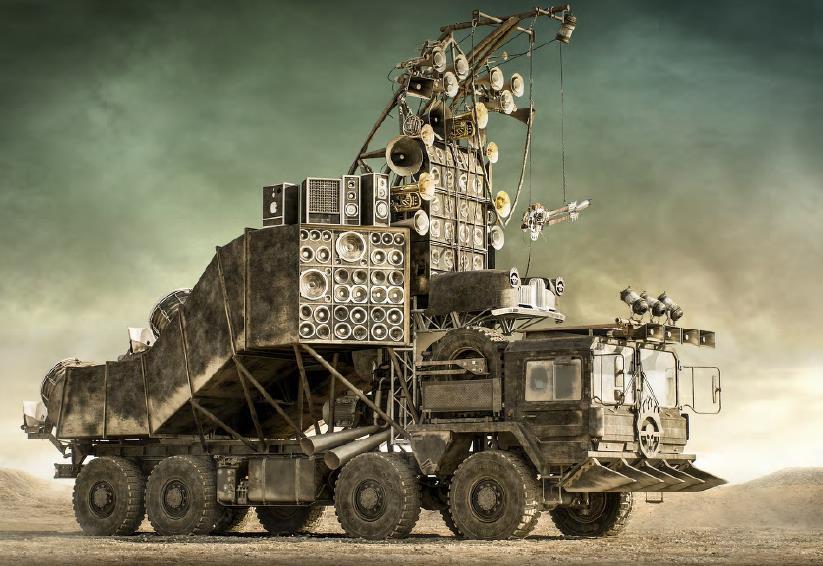 Mad Max Fury Road prop car speaker truck