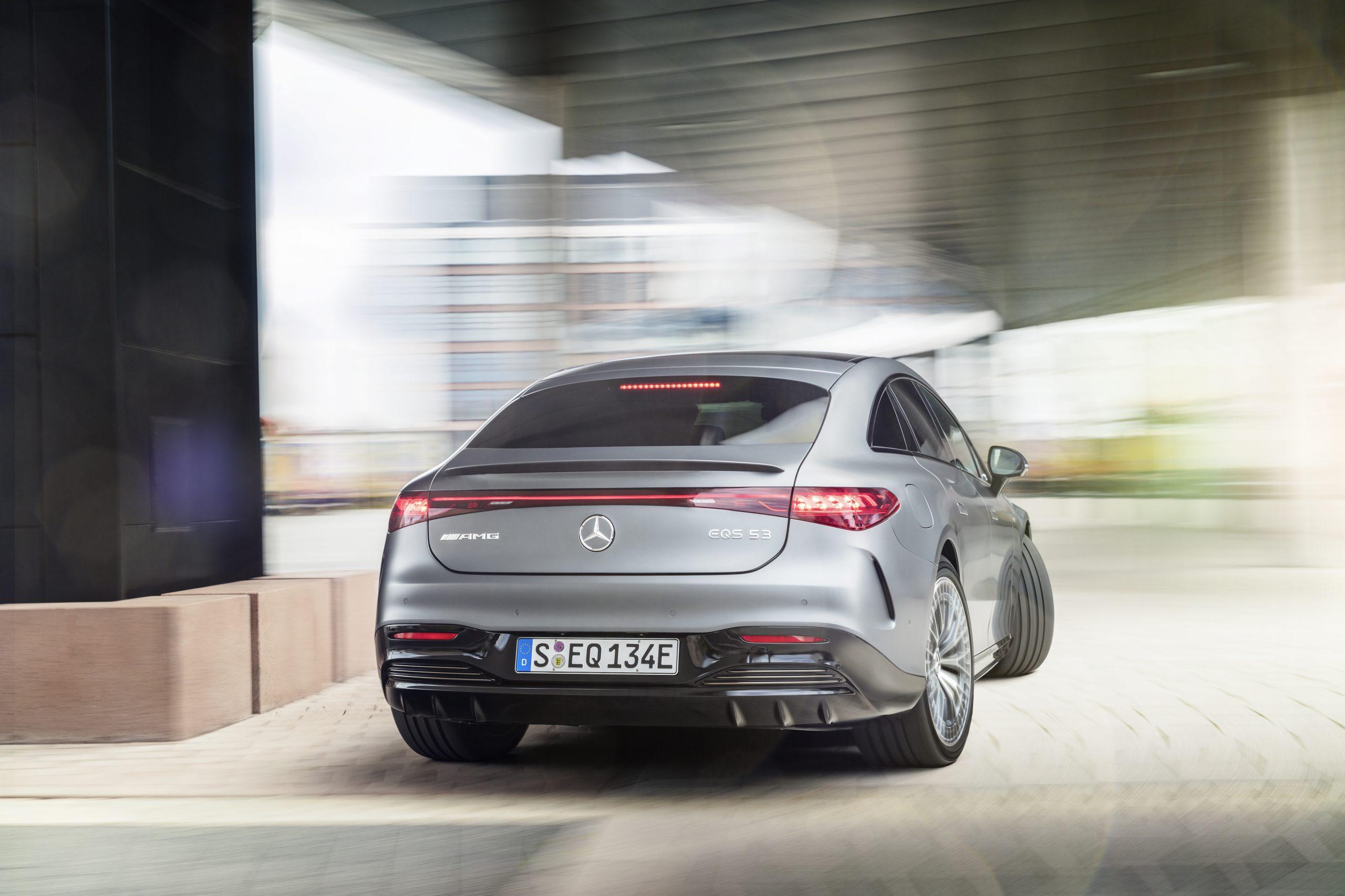 2021 Mercedes-AMG EQS 53 rear action
