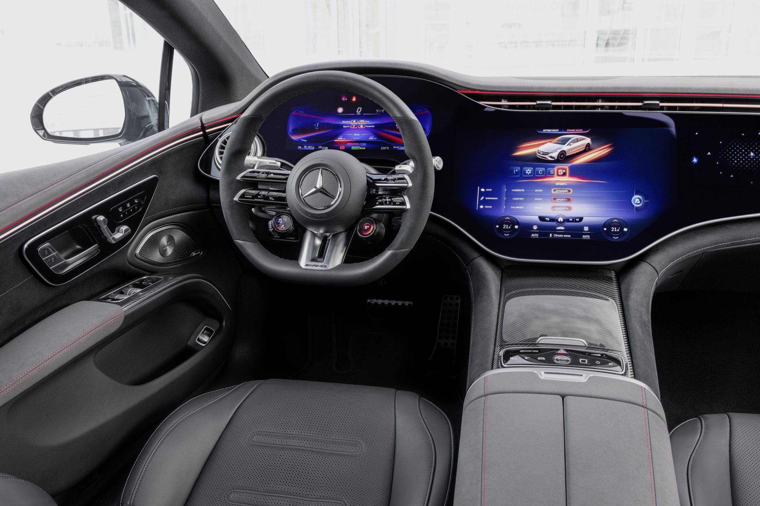 2021 Mercedes-AMG EQS 53 interior driver cockpit