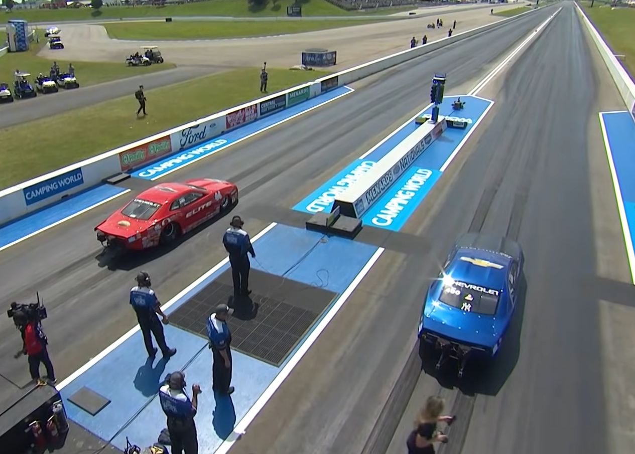 What is a drag racing burndown, and why does it work?