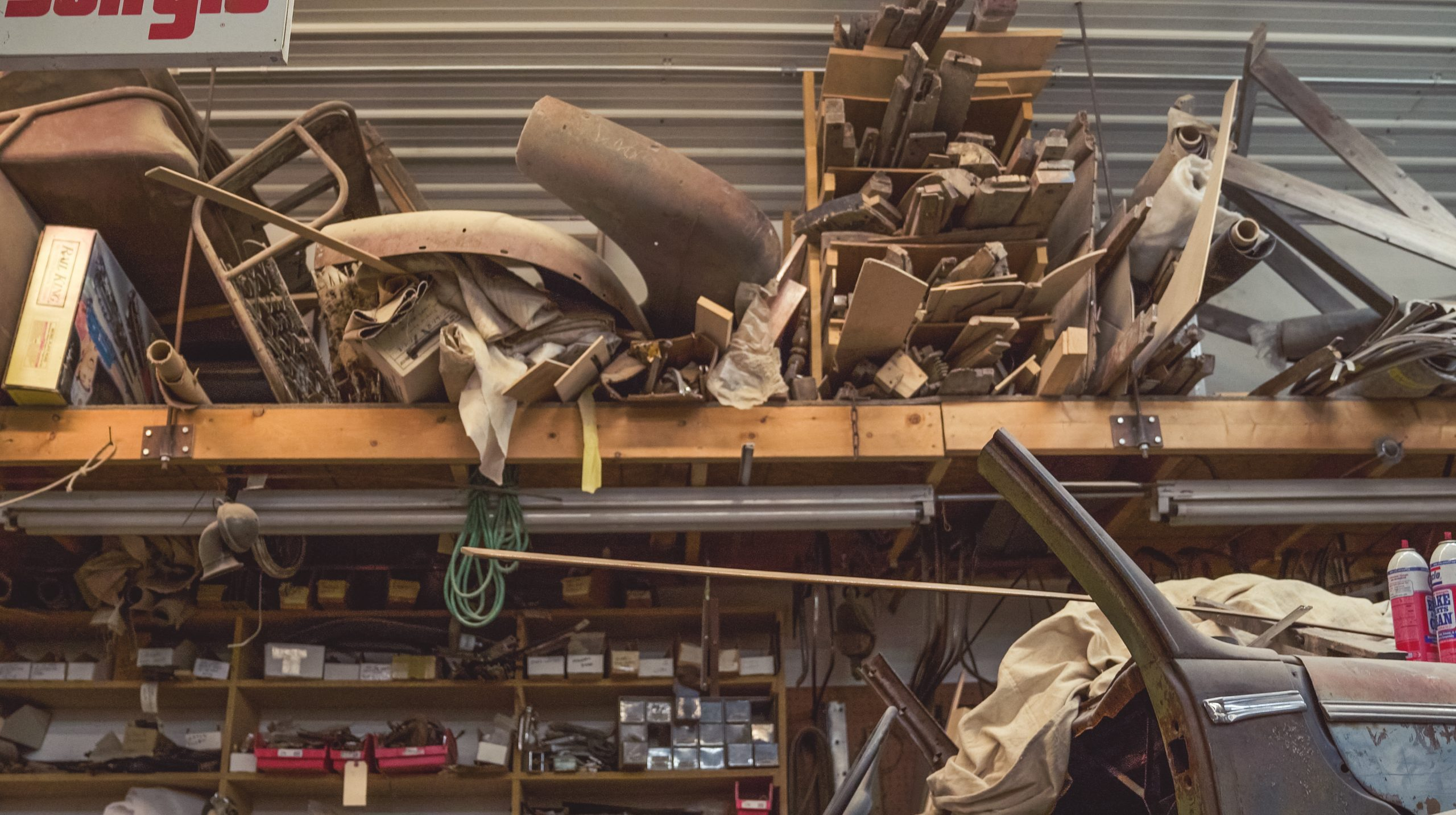 Mike Nickels Woodie Wagon Shop shelves