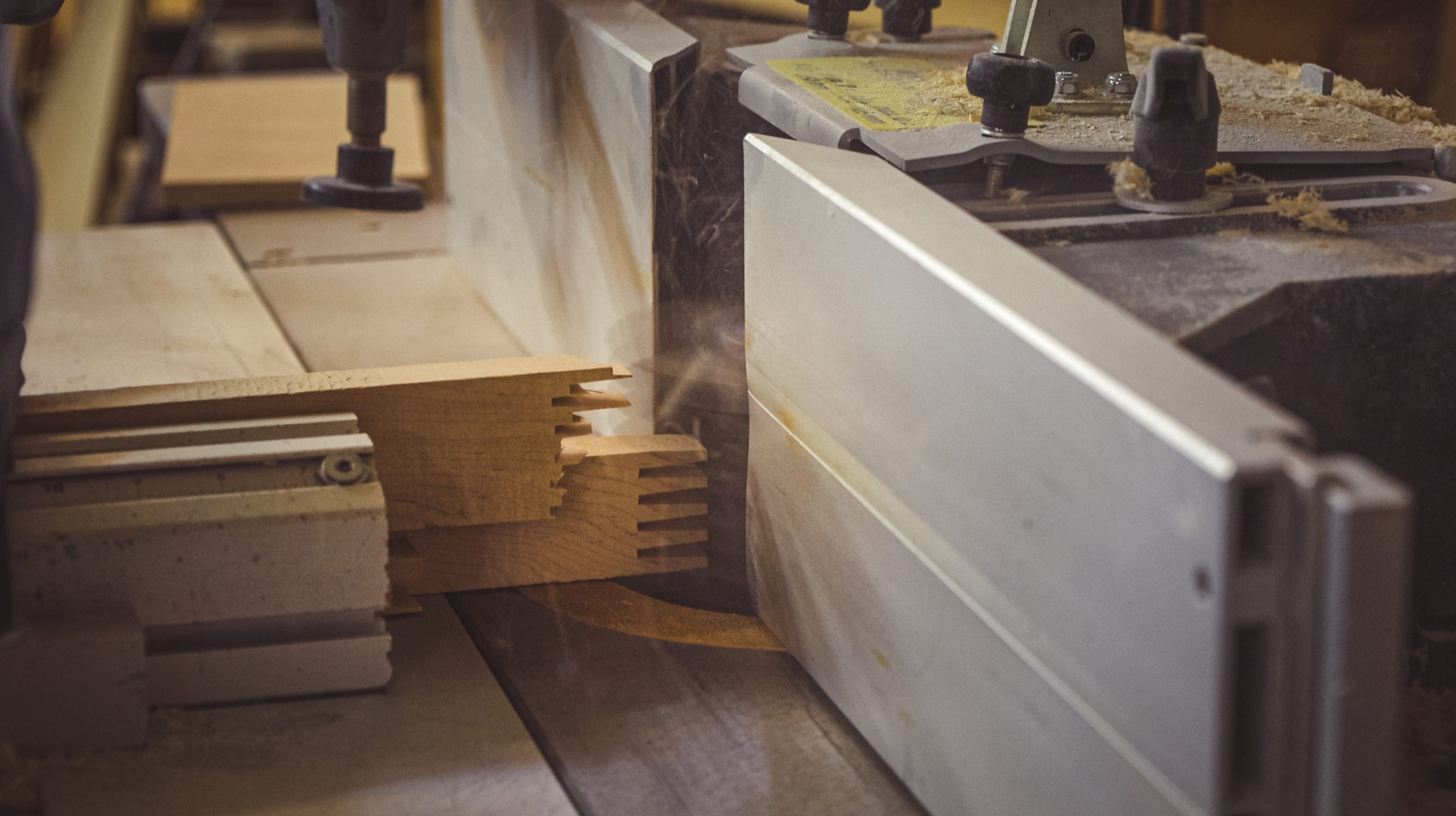 Mike Nickels Woodie Wagon Shop joint cutting