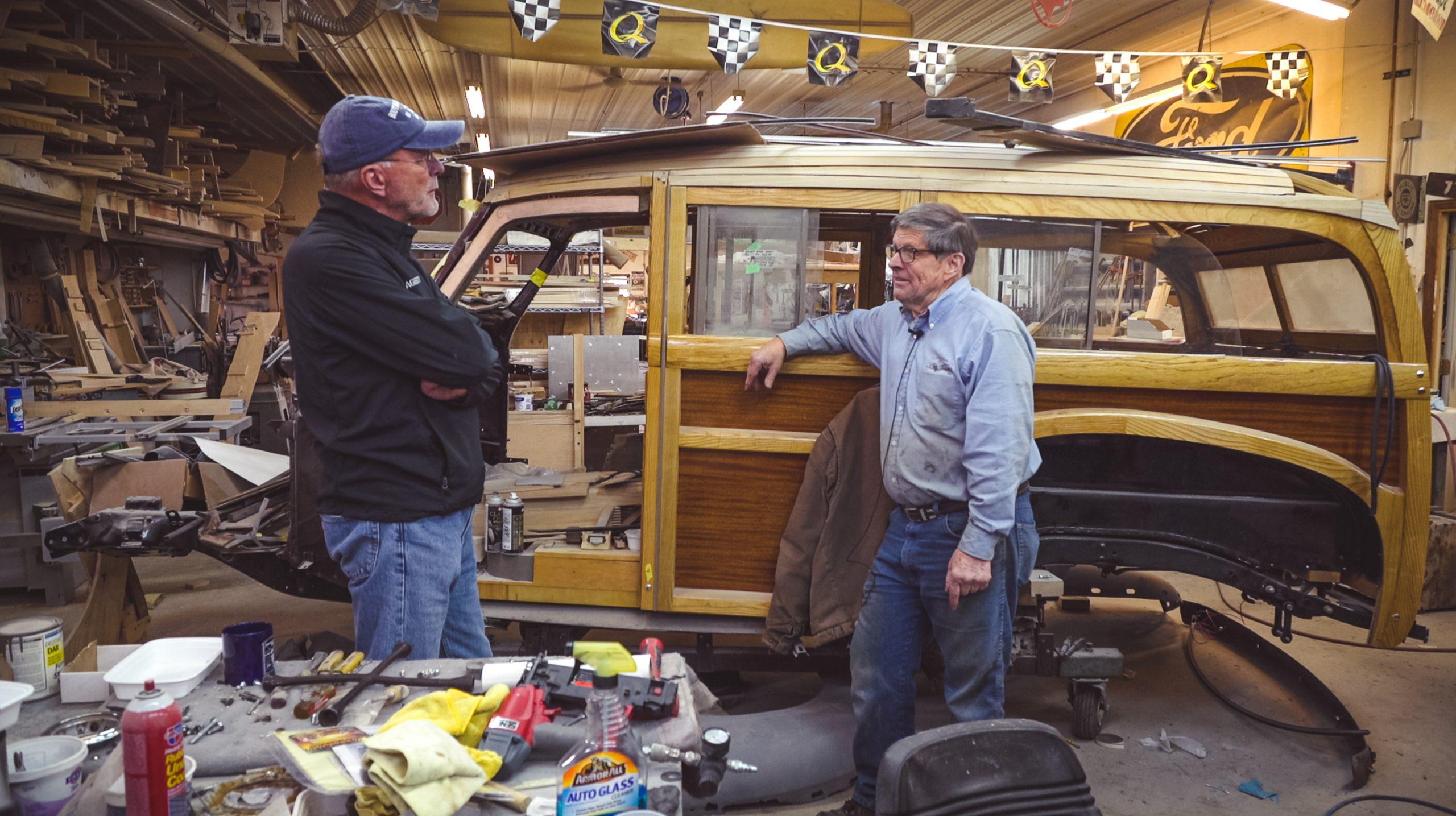 Mike Nickels Woodie Wagon Shop barn find hunter