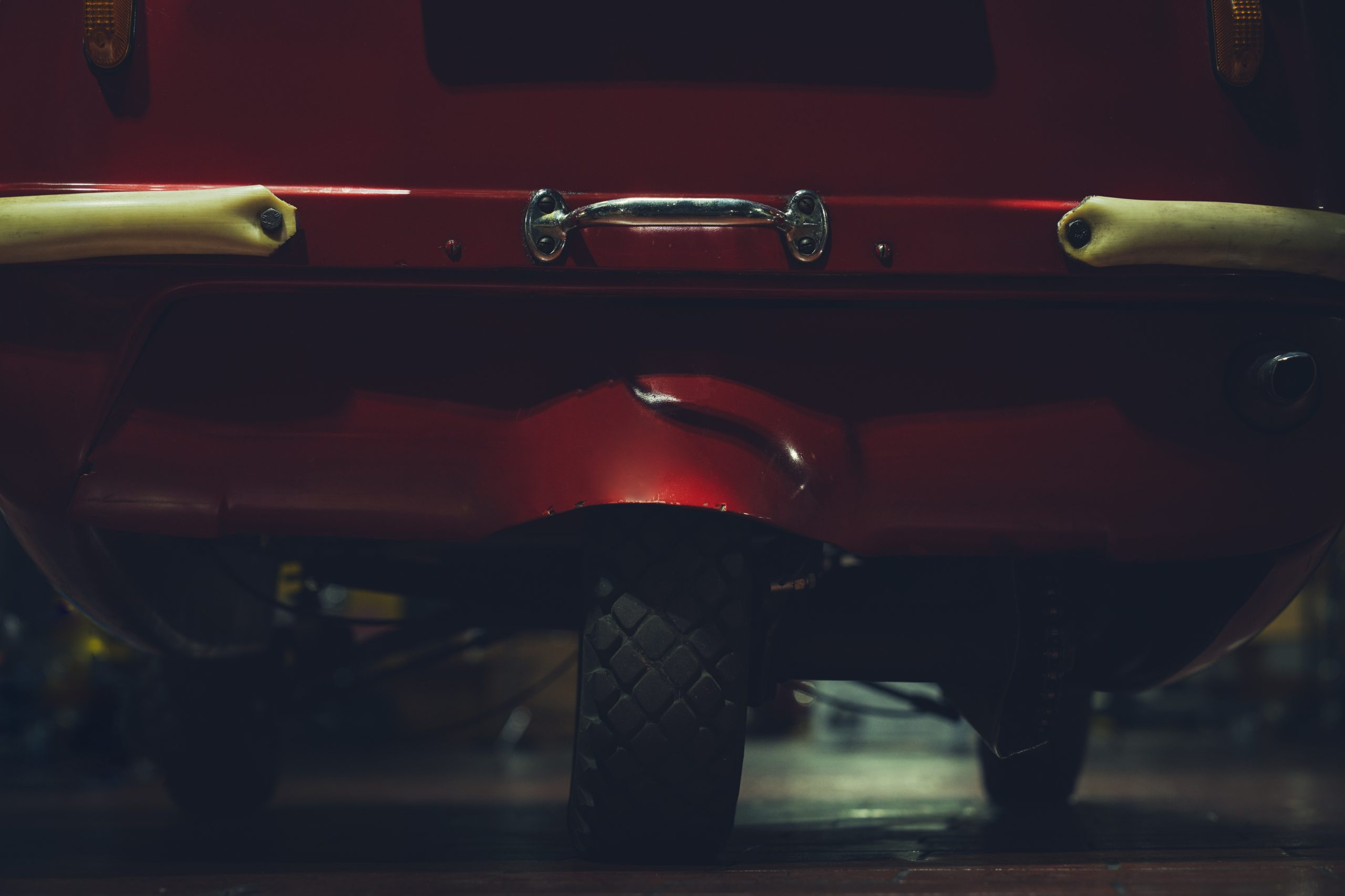 Nashville vintage car museum peel replica rear tire