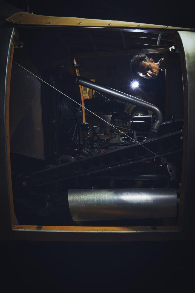 Nashville vintage car museum dymaxion engine vertical
