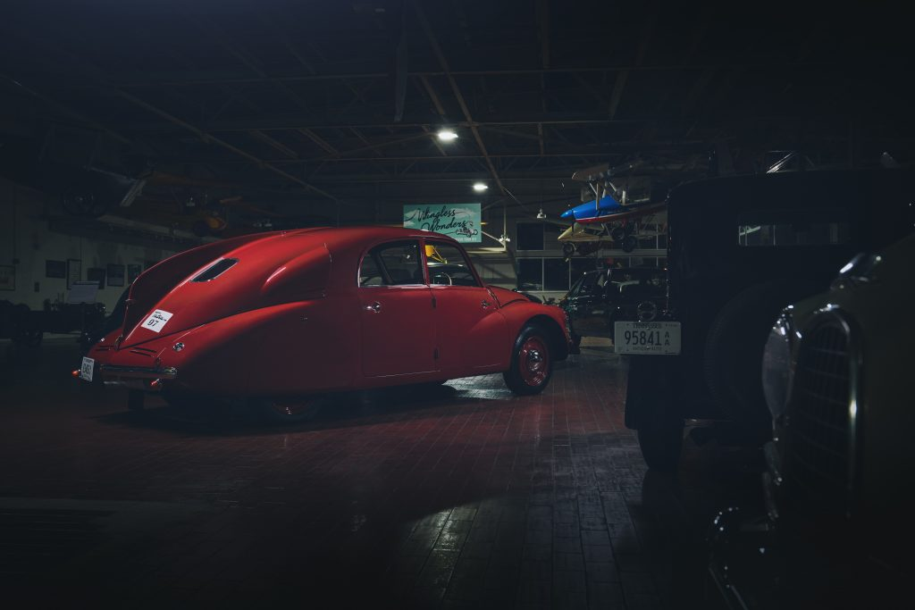 Nashville vintage car museum tatra rear three-quarter