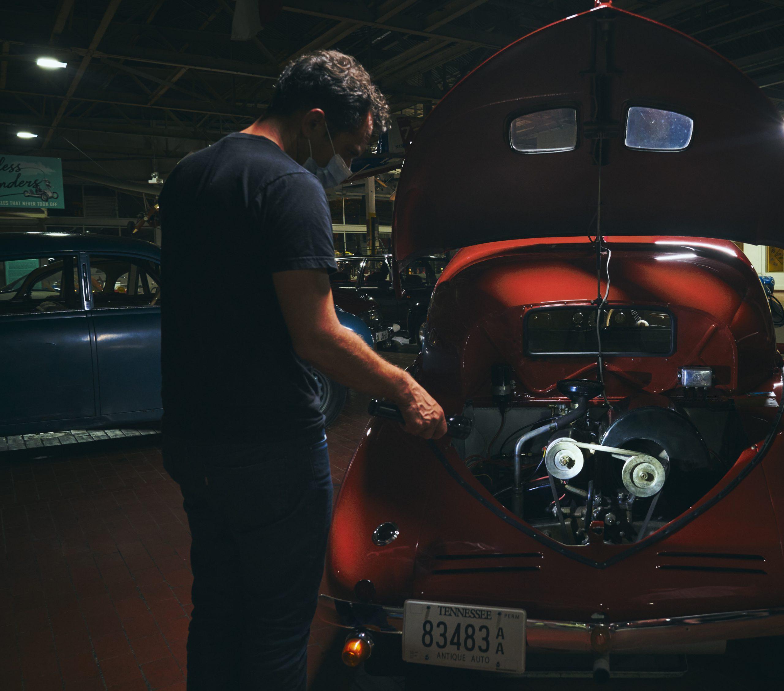 Nashville vintage car museum tatra rear