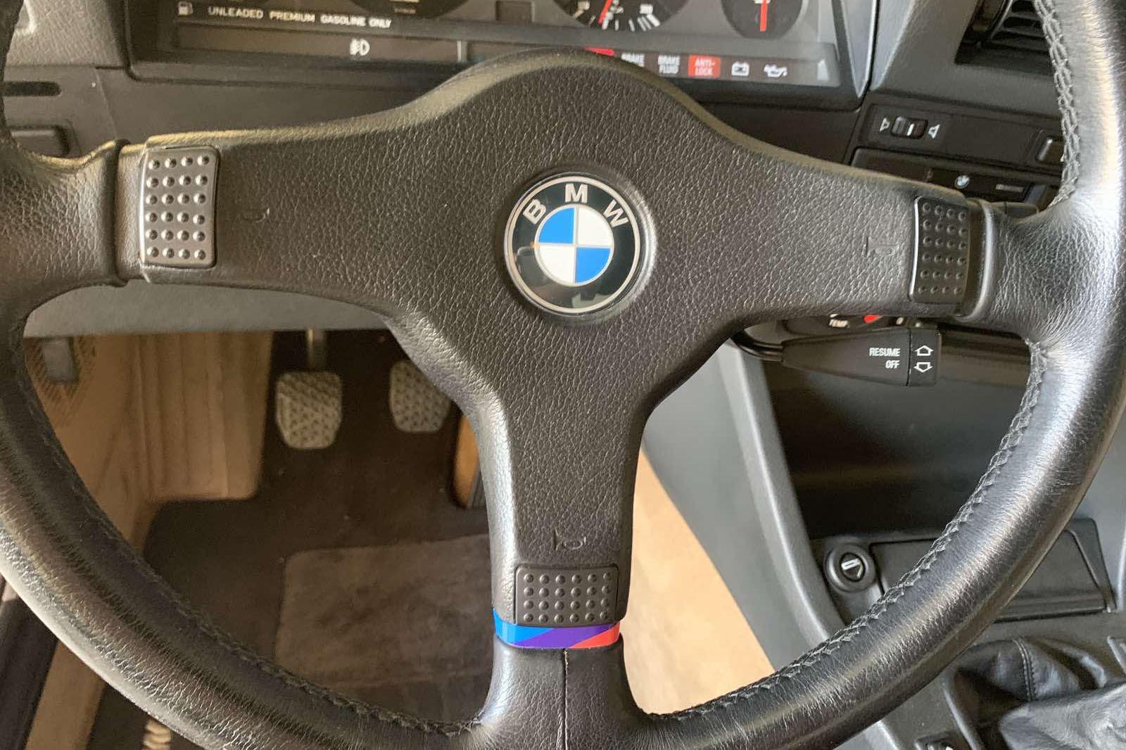 Paul Walker 1988 M3 interior steering wheel