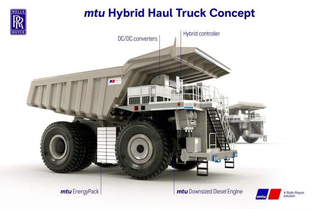 Rolls-Royce Flanders Electric Hybrid haul truck concept