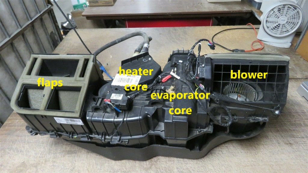 Rob Siegel - Mouse-infested truck - heater box - used heater box annotated