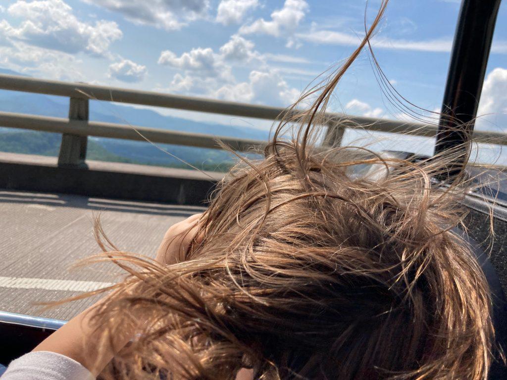 Caterham 7 wind hair