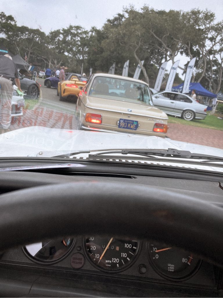 BMW 2002 entering monterey bmw