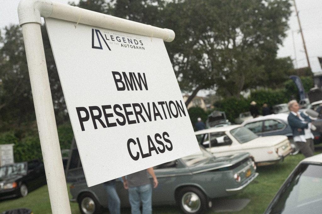 BMW 2002 bmw preservation class sign