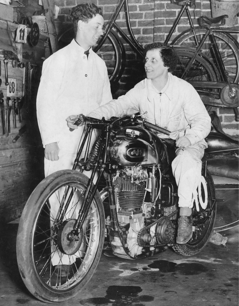 Motorcycle Riders Theresa Wallach And Florence Blenkiron