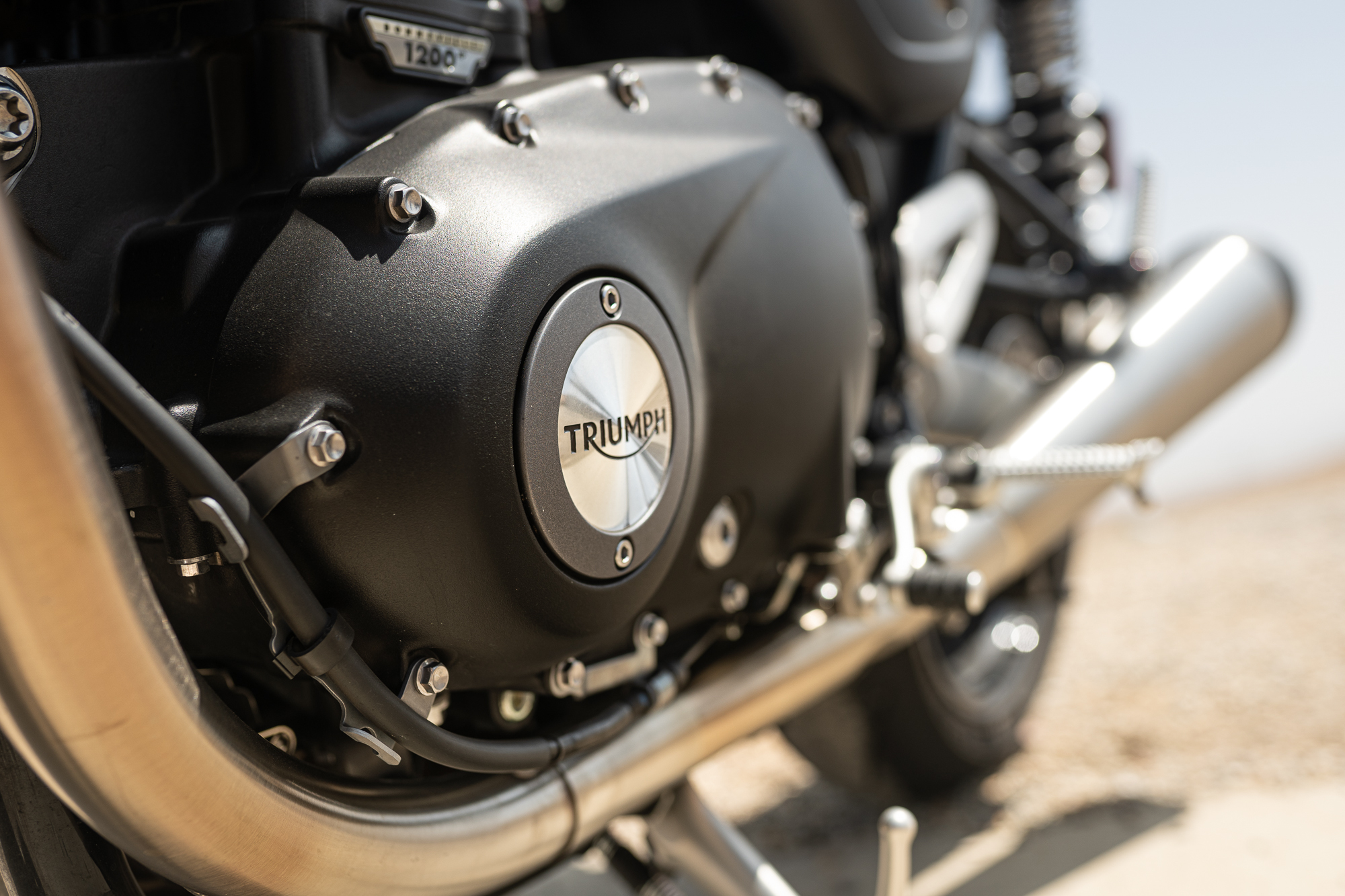 Triumph Speed Twin cover detail