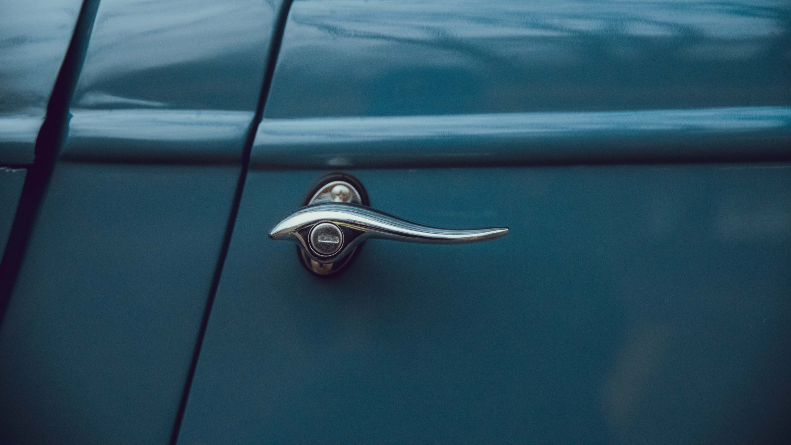 1933 Ford Coupe door handle detail