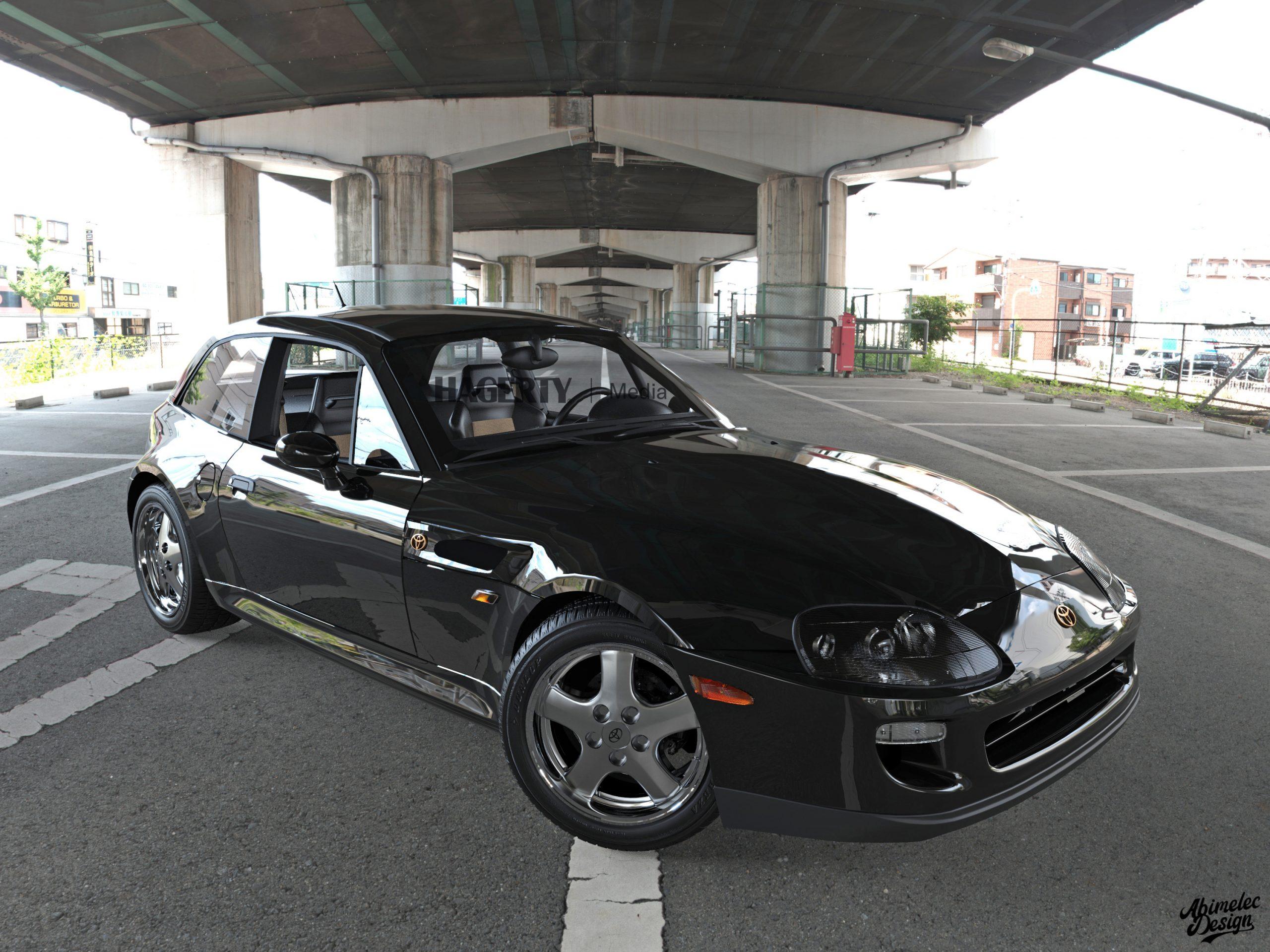 Toyota Supra BMW Z black