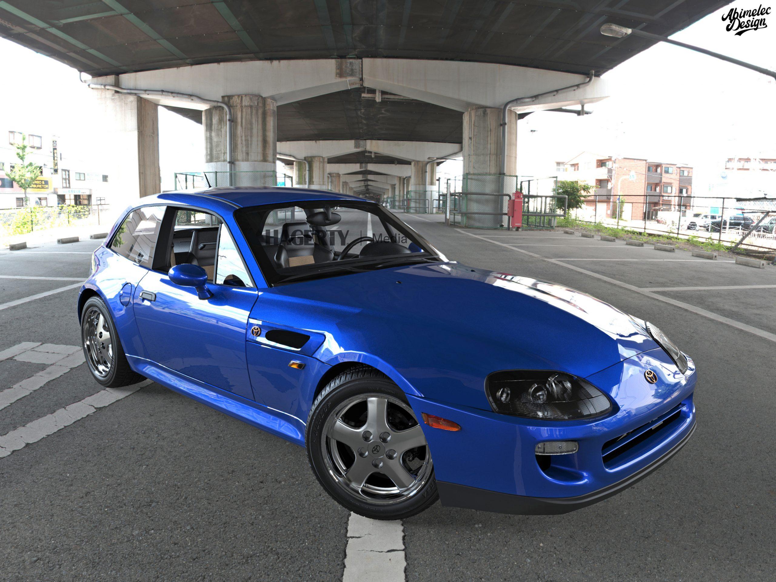 Toyota Supra BMW Z blue