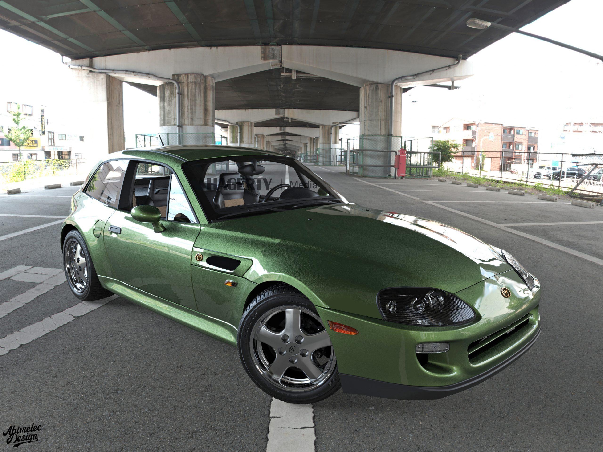 Toyota Supra BMW Z green