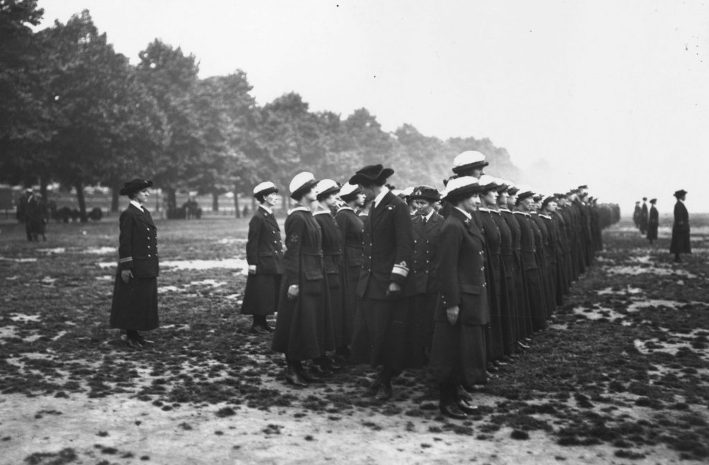 Wrens At Inspection WWI