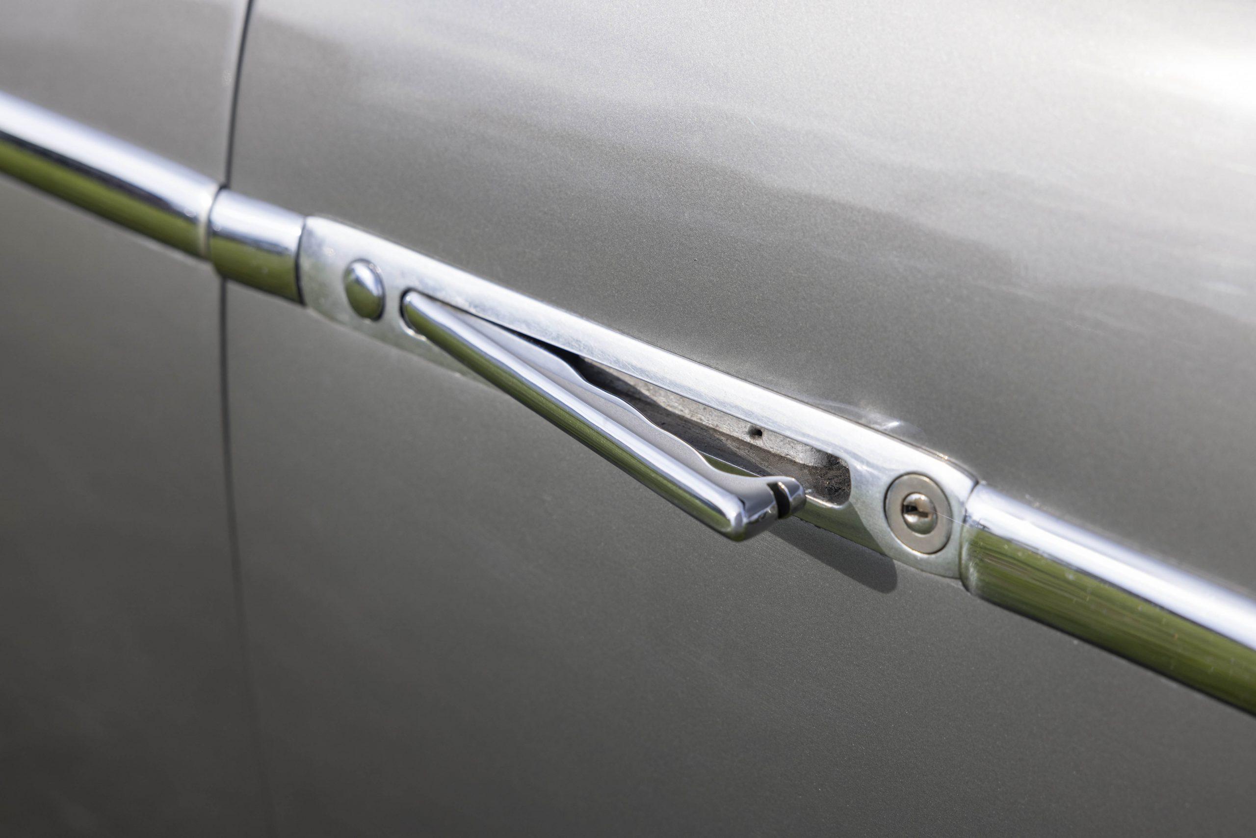 Zagato-bodied Bristol 406 door handle detail