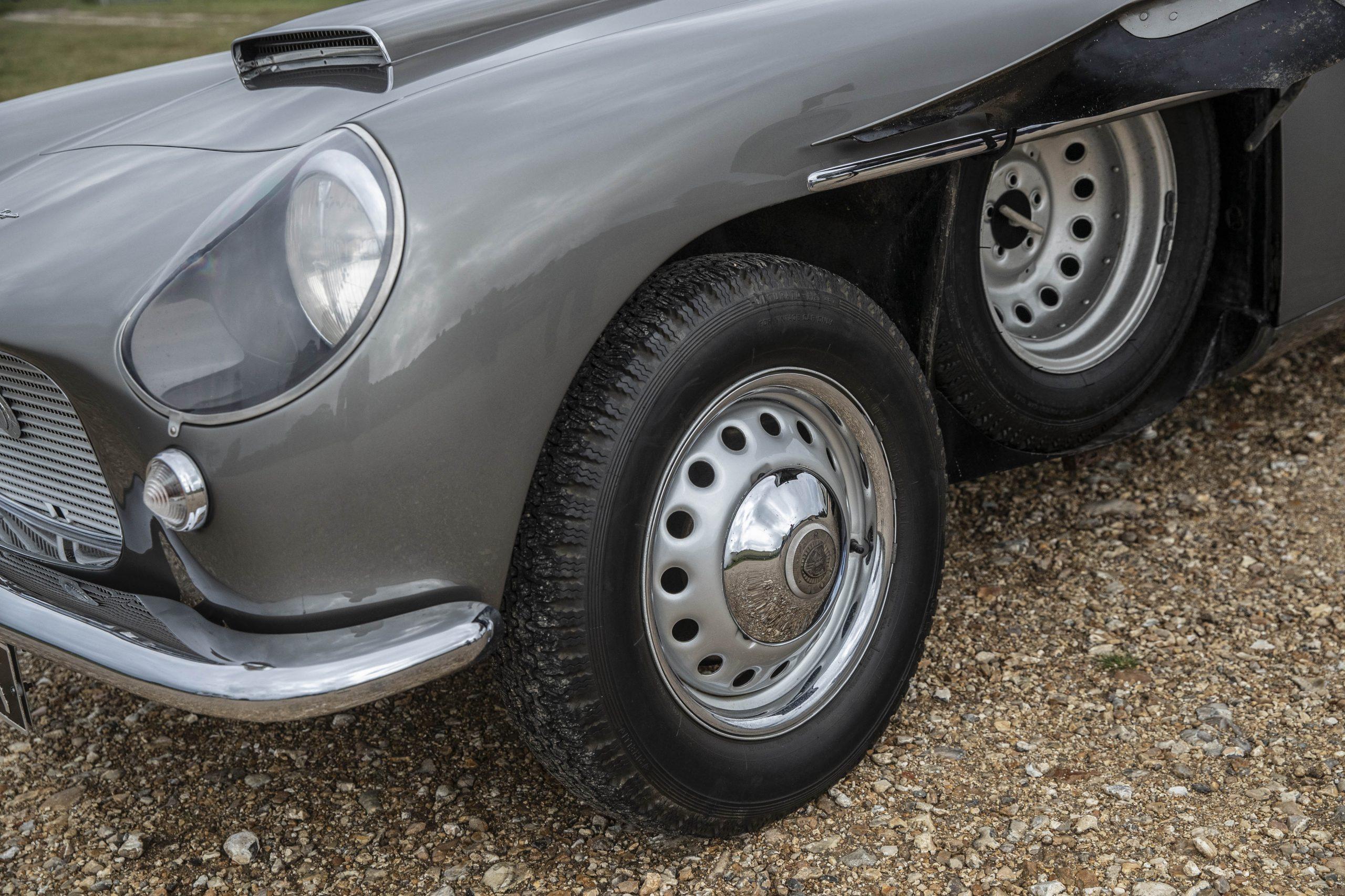 Zagato-bodied Bristol 406 front wheel and spare