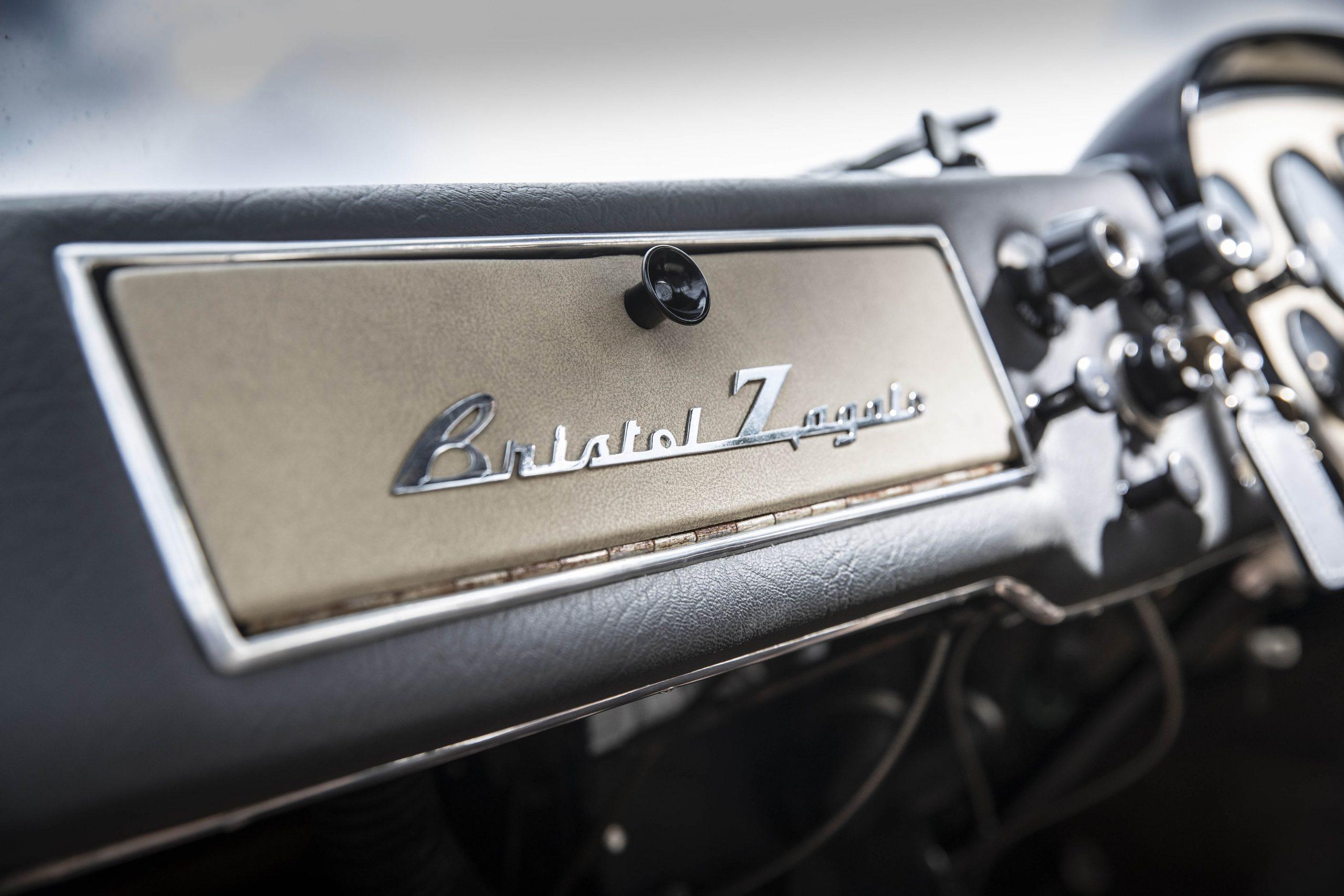 Zagato-bodied Bristol 406 dash badging