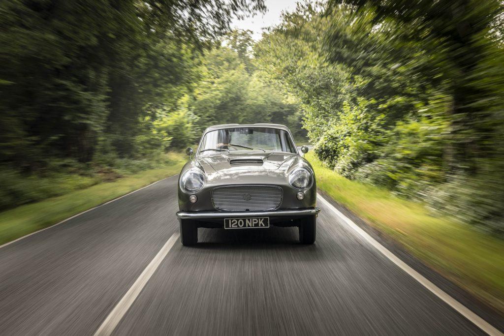 Zagato-bodied Bristol 406 front driving action