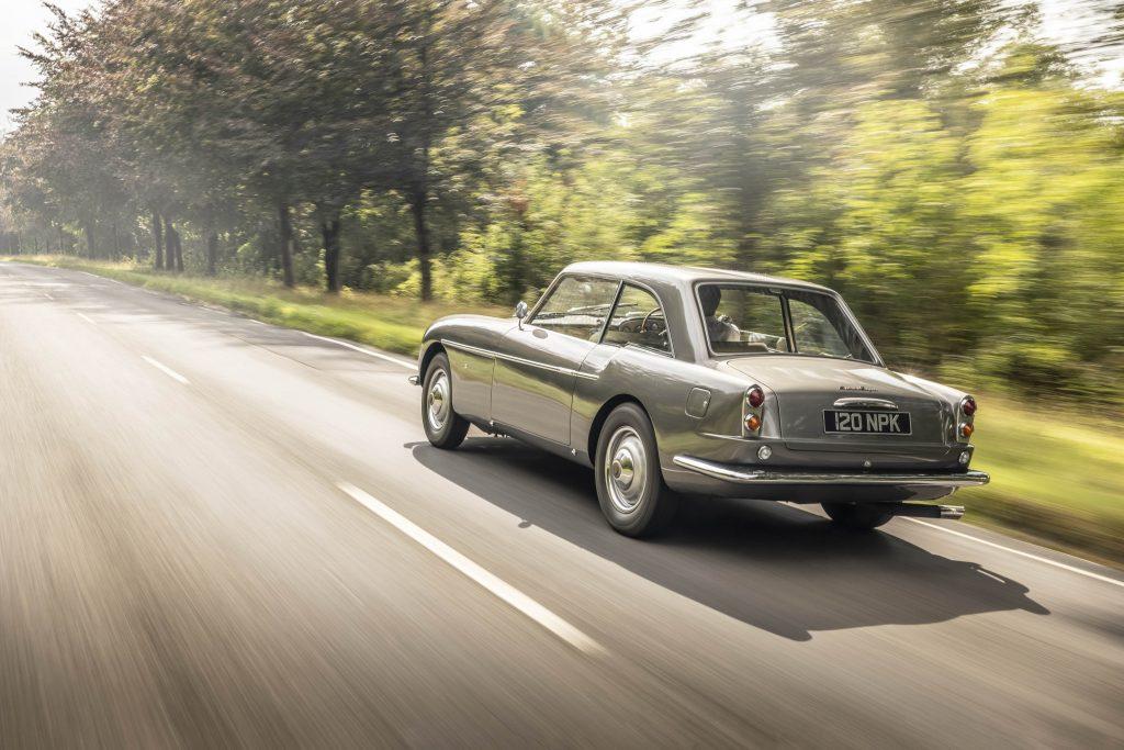 Zagato-bodied Bristol 406 rear three-quarter driving action